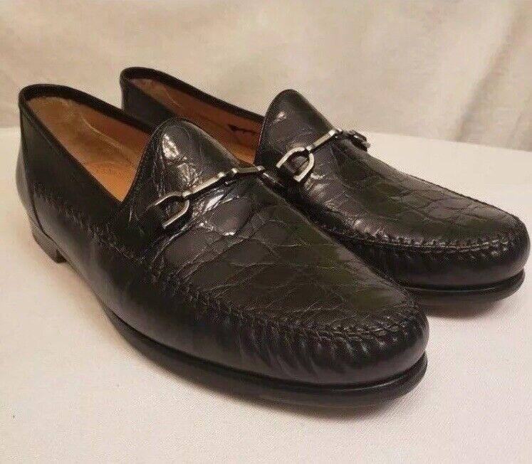 Parigi Horsebit Genuine Crocodile Loafers 11.5 Men's - Spain - Compare  3300