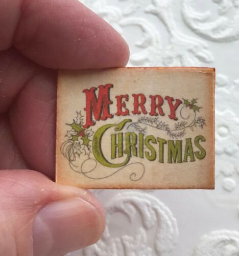 Dollhouse Miniature Merry Christmas Victorian HOLIDAY decor 1:12 red and green