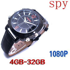 16GB Men Waterproof Spy Sport Watch 1080P Sound Alone Record Hidden Video Camera
