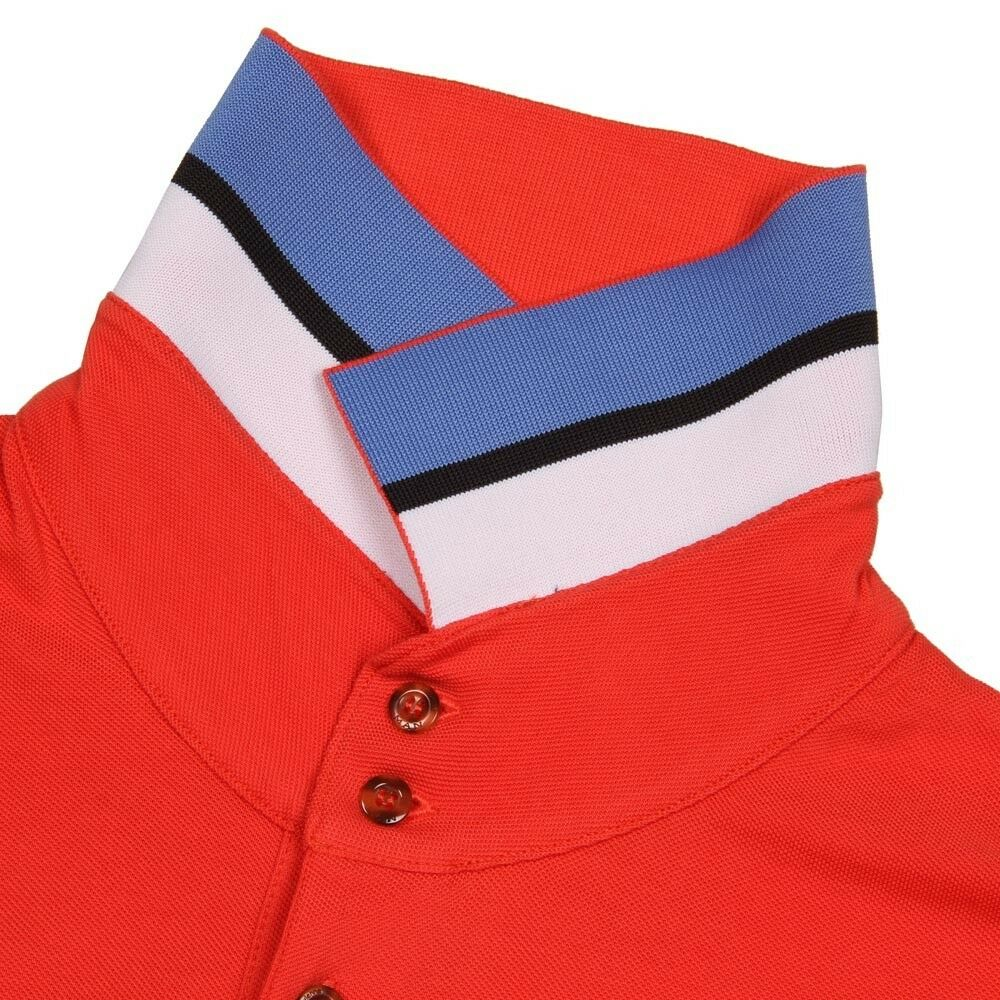 VIVIENNE WESTWOOD MAN London ORB LOGO POLO SHIRT Coral orange COTTON ( L )