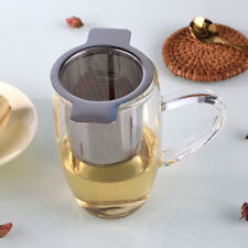 2020 Stainless Steel Mesh Tea Infuser Cup Strainer Loose Leaf Filter Lid Set US