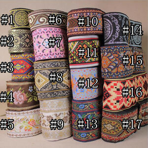 5-10-Yards-Vintage-Chinese-Jacquard-Ribbon-Braid-Trim-Embroidery-Woven-Border