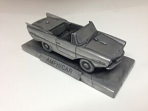 Amphicar 1.43 échelle étain Effet Voiture Modèle Handmade In Sheffield-afficher Le Titre D'origine Cool En éTé Et Chaud En Hiver