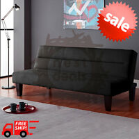 Modern Futon Sofa Bed Convertible Couch Living Room Loveseat Dorm Sleeper Lounge