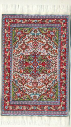 Escala 1//12 Casa de Muñecas pequeñas tejidas alfombra turca SR04