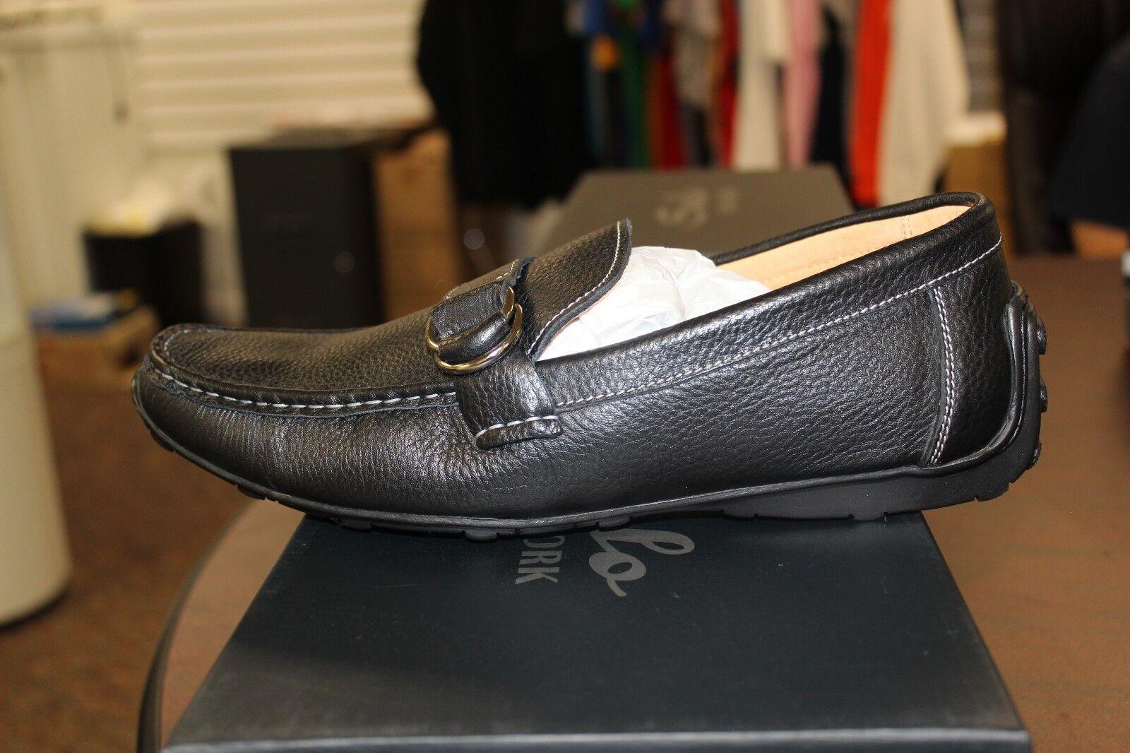 Salo New York Schwarz Leder-Slipper S405-28 Hochwertig Materialien