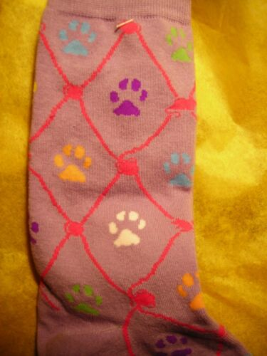 "/""Pawprints/""  on Lilac Cat Lover Socks"