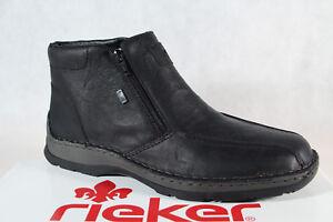 Details zu Rieker 32363 Stiefel Stiefelette Stiefeletten EchtlederTEX schwarz Lammfell NEU!