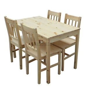 WestWood-Quality-Solid-Wooden-Dining-Table-and-4-Chairs-Set-Kitchen-DS02-Pine