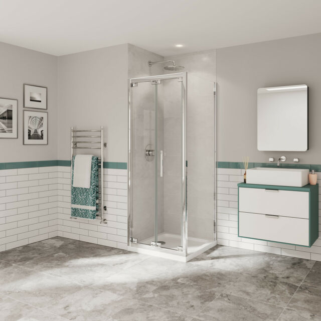 Coram Optima Bi Fold Shower Door 760mm Wide 4mm Plain Glass For Sale Online Ebay