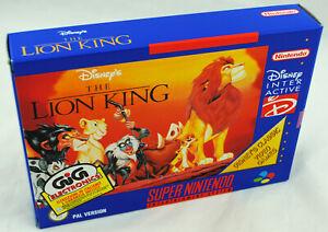 Jeu-THE-LION-KING-le-roi-lion-sur-Super-Nintendo-SNES-Neuf-carton-d-039-usine-PAL