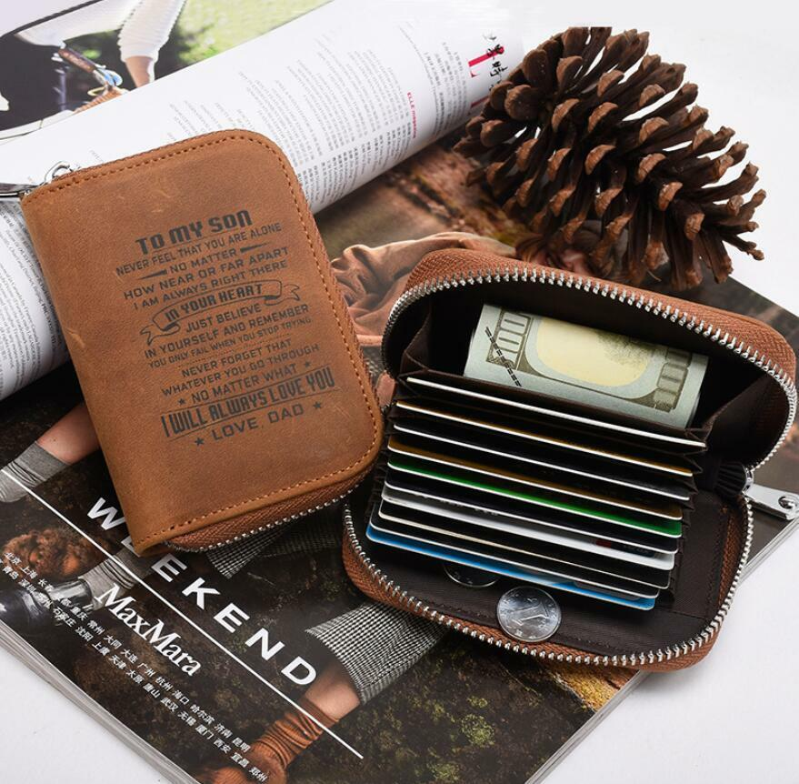 Minimalist RFID Card Holder Wallet To My Son Daughter from Mom Dad Xmas Gift