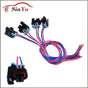 4 pcs fuel injector connector wiring harness pigtail for gm saturn hummer  gmc   ebay  ebay