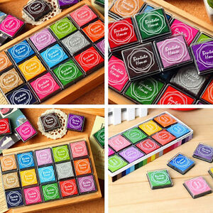 20x-DIYCraft-Finger-Print-Ink-Pad-Inkpad-Rubber-Stamps-Inkpads-Toys-Kids-Game-PY