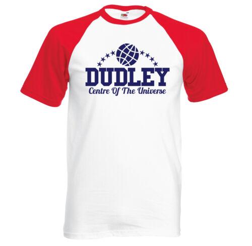 Dudley Centre Of The Universe retro short sleeve baseball t shirt