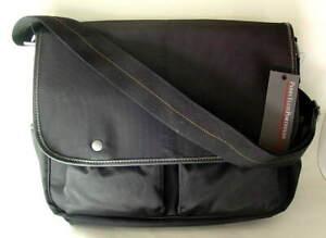PERRY-ELLIS-PORTFOLIO-Commuter-Messenger-Bag-Briefcase-Black-NEW-NWT