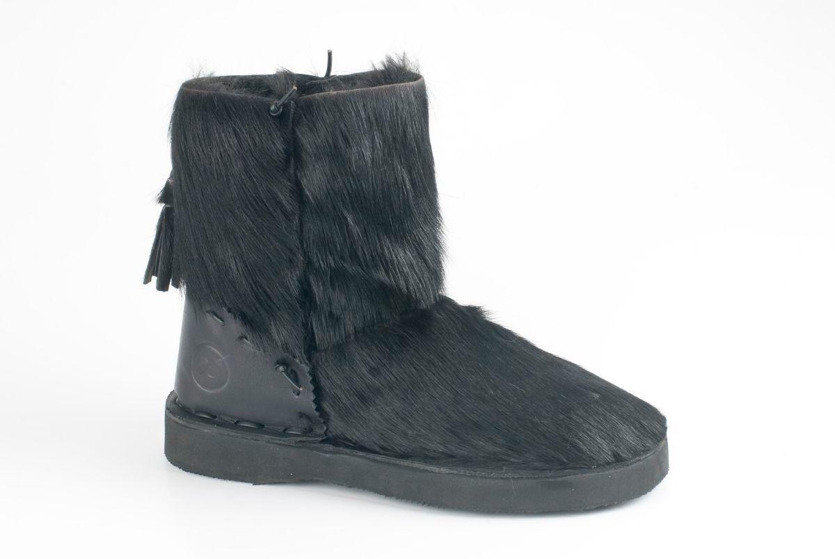 Bronx Damenschuhe Schuhe Echtleder Pony Stiefelette Winterstiefel gefüttert Echtleder Schuhe 24f486