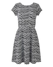 Simply Be Jersey Jacquard Skater Dress Size 24 Uk BNWT RRP £22.50 Black/White