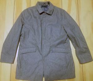 hombre abrigo de chaqueta 797082273957 Perry abrigo Ellis para Heather gris nuevo Xl BwqExXRU