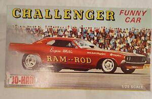 JO-HAN CHALLENGER RAM-ROD FUNNY CAR MODEL KIT 1/25