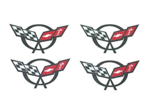 2000-2004 Corvette C5 Wheel Center Cap Decal Set of 4