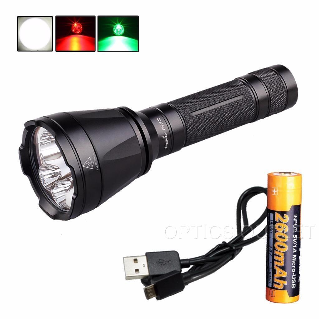 Fenix TK32 2016 Ed.1000 Lumen Tri-Couleur DEL Lampe de poche avec Rechargeable USB 18650