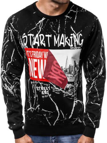 Sweatshirt Pull Avec Motif Sweatjacke Chemise Manches Longues Hommes OZONEE 7748 Mix