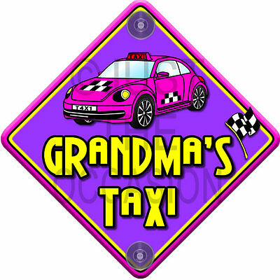 Non Personalised novelty baby on board car window sign. like baby on board sign GRANDADS TAXI