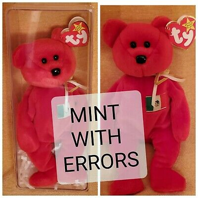 MINT with MINT TAGS TY OSITO the MEXICAN FLAG BEAR BEANIE BABY