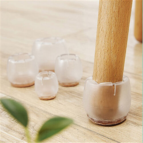 Durable 8pcs Chair Leg Feet Round Silicone Caps Pads Table Covers Protectors