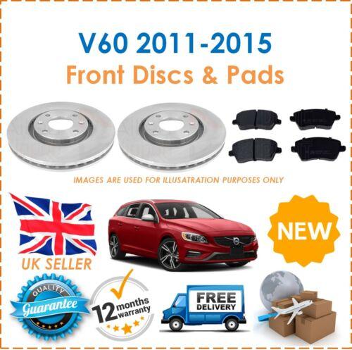 Pour Volvo V60 2011-2015 deux AVANT VENTILÉ 300 mm Disques De Frein /& Patins De Frein Ensemble Neuf