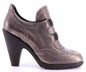 Zapatos-Mujeres-Botas-Tacon-HOGAN-BY-KARL-LAGERFELD-Cuero-Gris-Exclusivo-Lujo