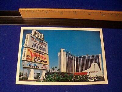 Vintage Postcard Mgm Grand Hotel Las Vegas Nevada Casino Joan Rivers Jai Alai Ebay