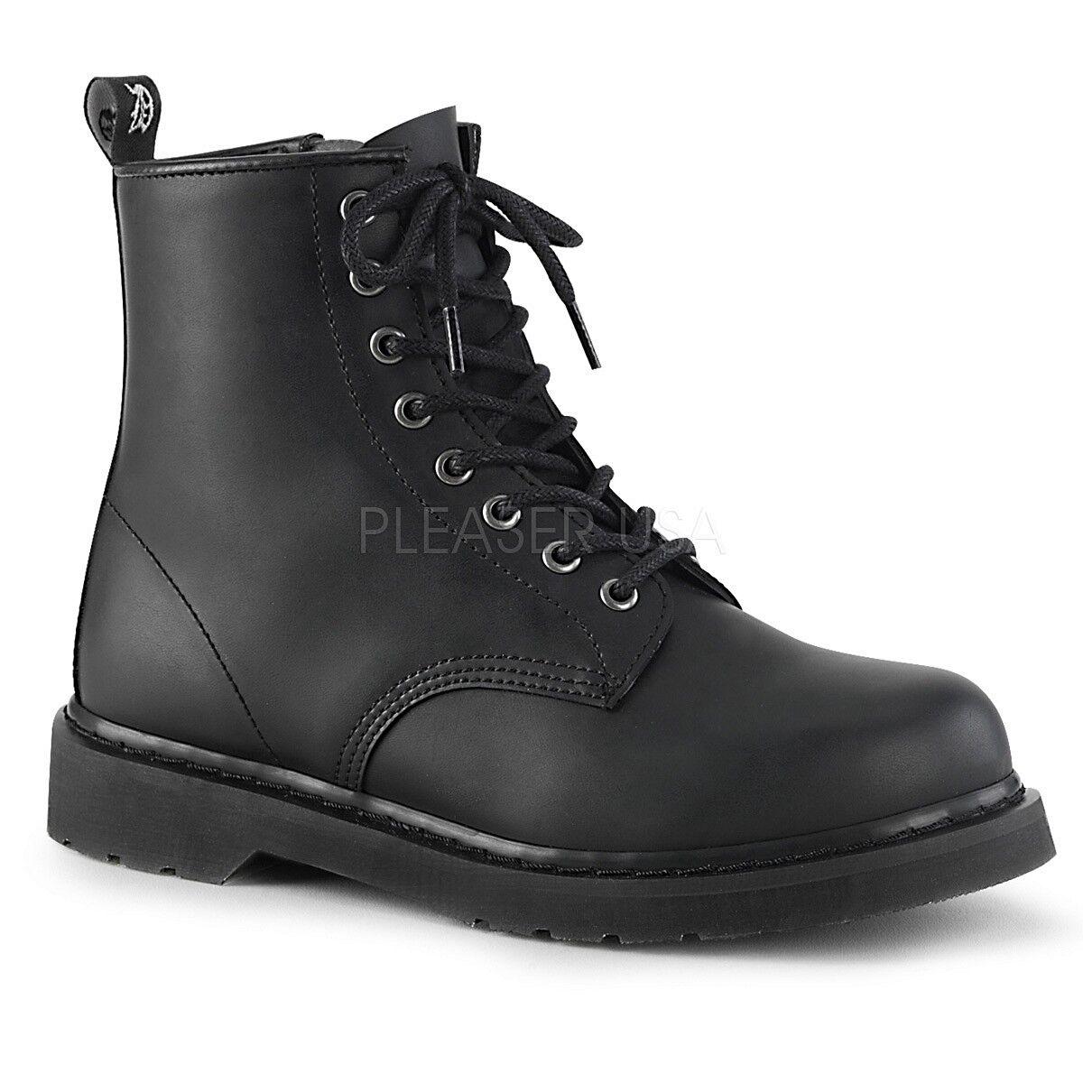 Demonia 8-eye Vegano Negro botas De Roquero Punk gótico concierto de perno de 10 11 12 13 14