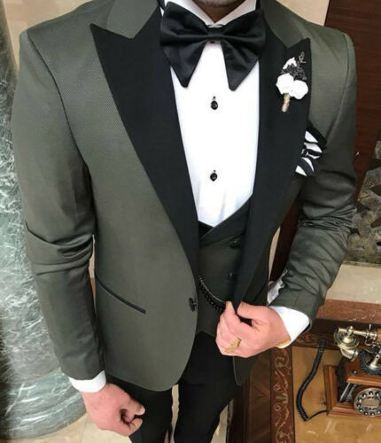 vestita Green Slim da Tuxedo Party firmata Vest Fit Wedding uomo Tuta 44 8COqw8