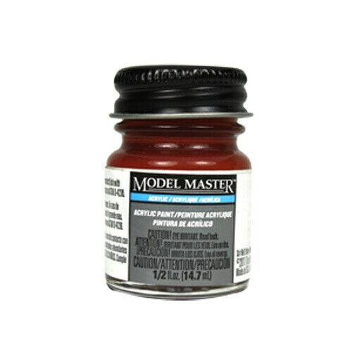 Model Master 4675 Rust Flat Acrylic Paint 14.7ml Jar Testors