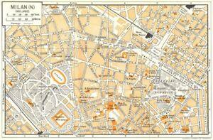 MILAN, N town/city plan. Milano. Italy 1960 old vintage map chart | eBay