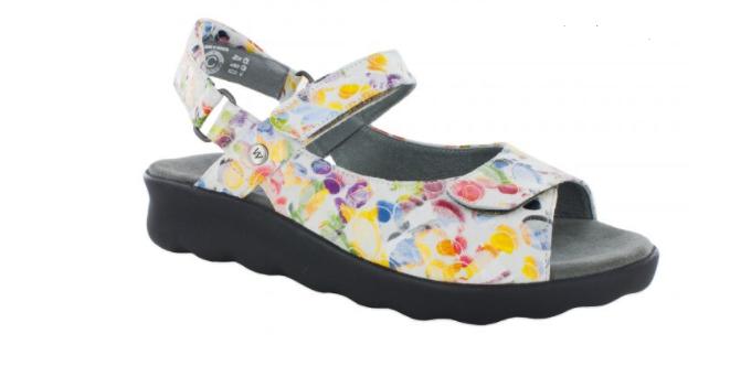 Wolky Pichu Circles White Comfort Ankle Strap Sandal Women's sizes 36-42 5-11NEW