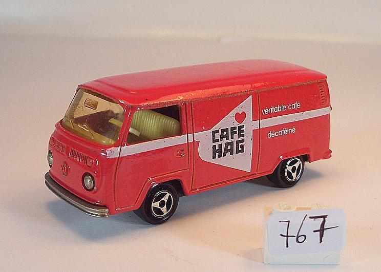Majorette 1 60 nº 244 VW volkswagen t2 fourgon recuadro rojo Café HAG nº 2  767
