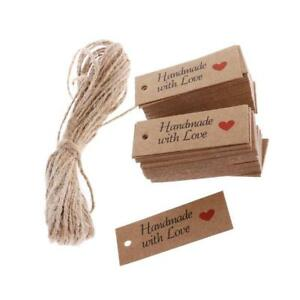 100pcs-Vintage-Kraft-Paper-Handmade-With-Love-Gift-Tags-Wedding-Favor-Labels