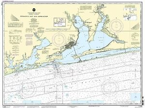 NOAA Chart Pensacola Bay and approaches 42nd Edition 11382