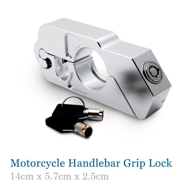 Motorcycle Handlebar Grip Brake Lever Lock Anit Theft Security Caps Lock Tough