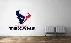 Image Is Loading Houston Texans Logo Wall Decal Nfl Football Decor