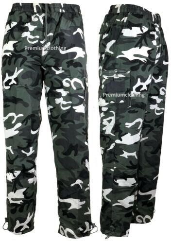 New Thermal Lined Trousers Plain Camo Army Pattern pants Fleece Bottoms Joggers