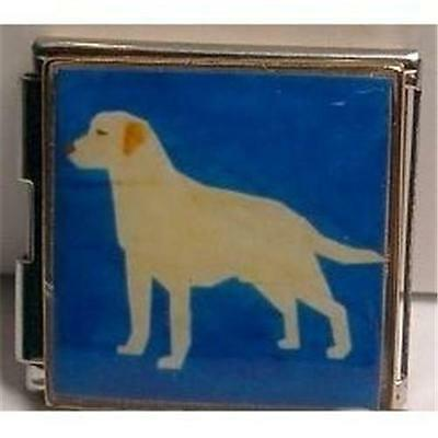 Sterling Silver Enameled Yellow Labrador Charm