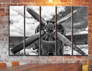 Vintage Airplane Canvas Wall Art
