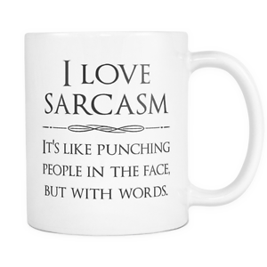 I Love Sarcasm Funny Coffee Quotes Custom Mugs Gift Ideas Cool Gifts Cups Ebay