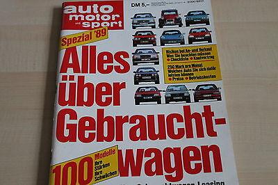 Auto Motor Und Sport 152849 Ams Gebrauchtwagen Spezial 1989 ZuverläSsige Leistung