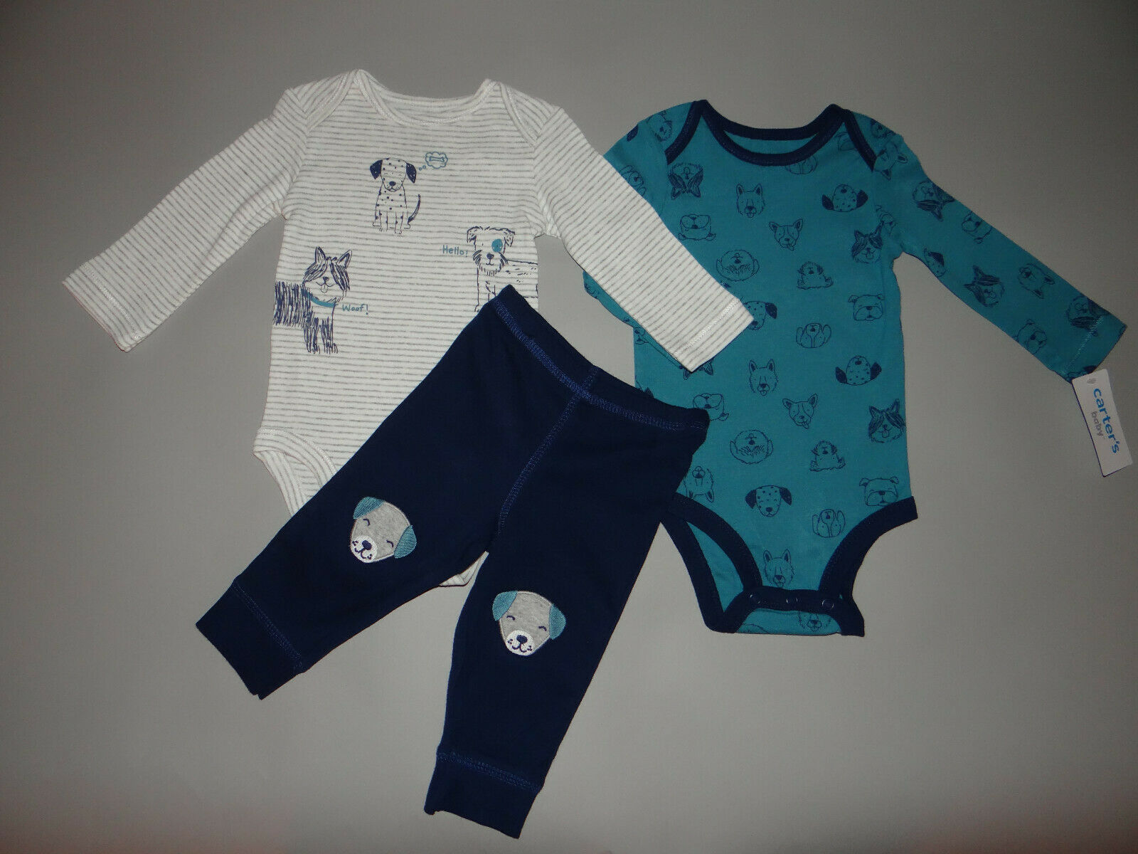 NWT, Baby boy clothes, Newborn, Carter's 3 piece set/     ~~~SEE DETAILS ON SIZE