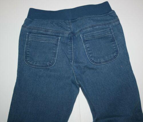 New Gymboree Girls 3T 4T Soft Faux Denim Blue Jeans Ribbed Waist /& Cuffs